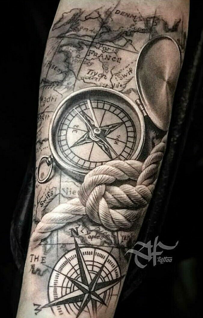 Black clock tattoo with standing gate (The Night C…   Black clock gate map… Tattoos is part of Forearm tattoo men - Black clock tattoo with standing gate (The Night C     Black clock gate map    black  tattoo