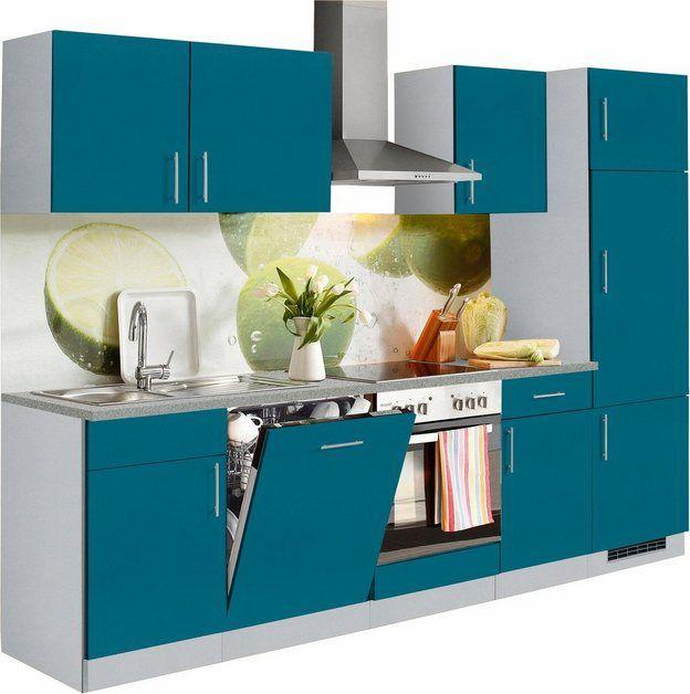 wiho Küchen Küchenzeile »Kiel«, mit EGeräten, Breite 280