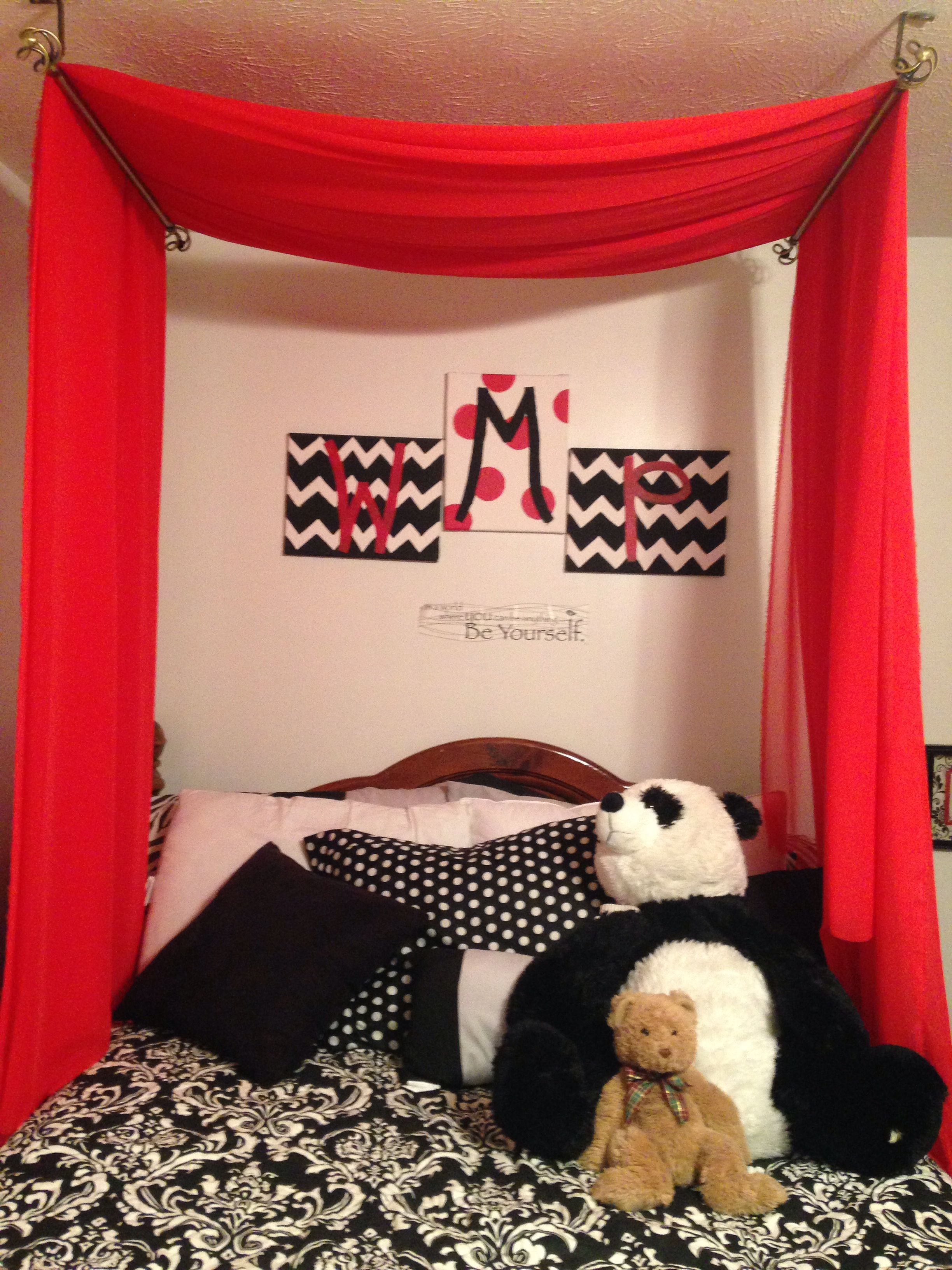Super Cute Idea Above Your Bed Just Two Curtain Rods And Some