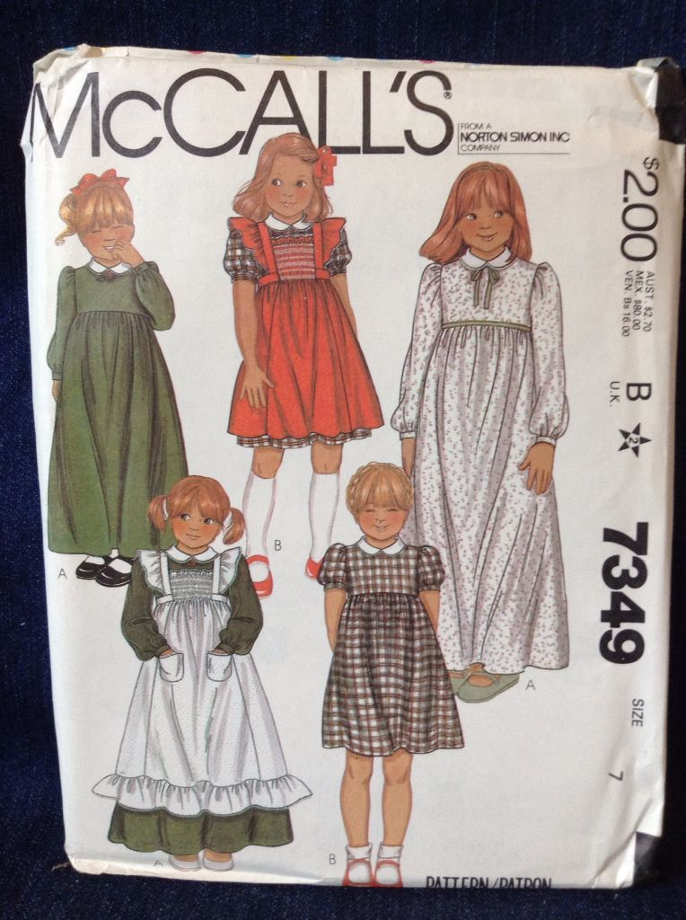 McCall's 7349 size 7 copyright 1980