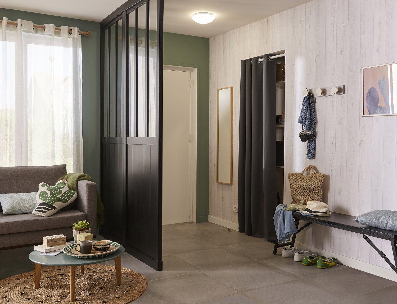 Une Cloison Amovible Atelier Qui Cree Une Separation Tendance Leroy Merlin Cloison Amovible Cloison Decoration Interieure Maison Moderne