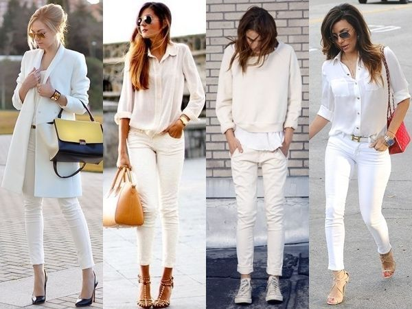 what to wear with white jeans - white | Hanley clothing?! | Pinterest