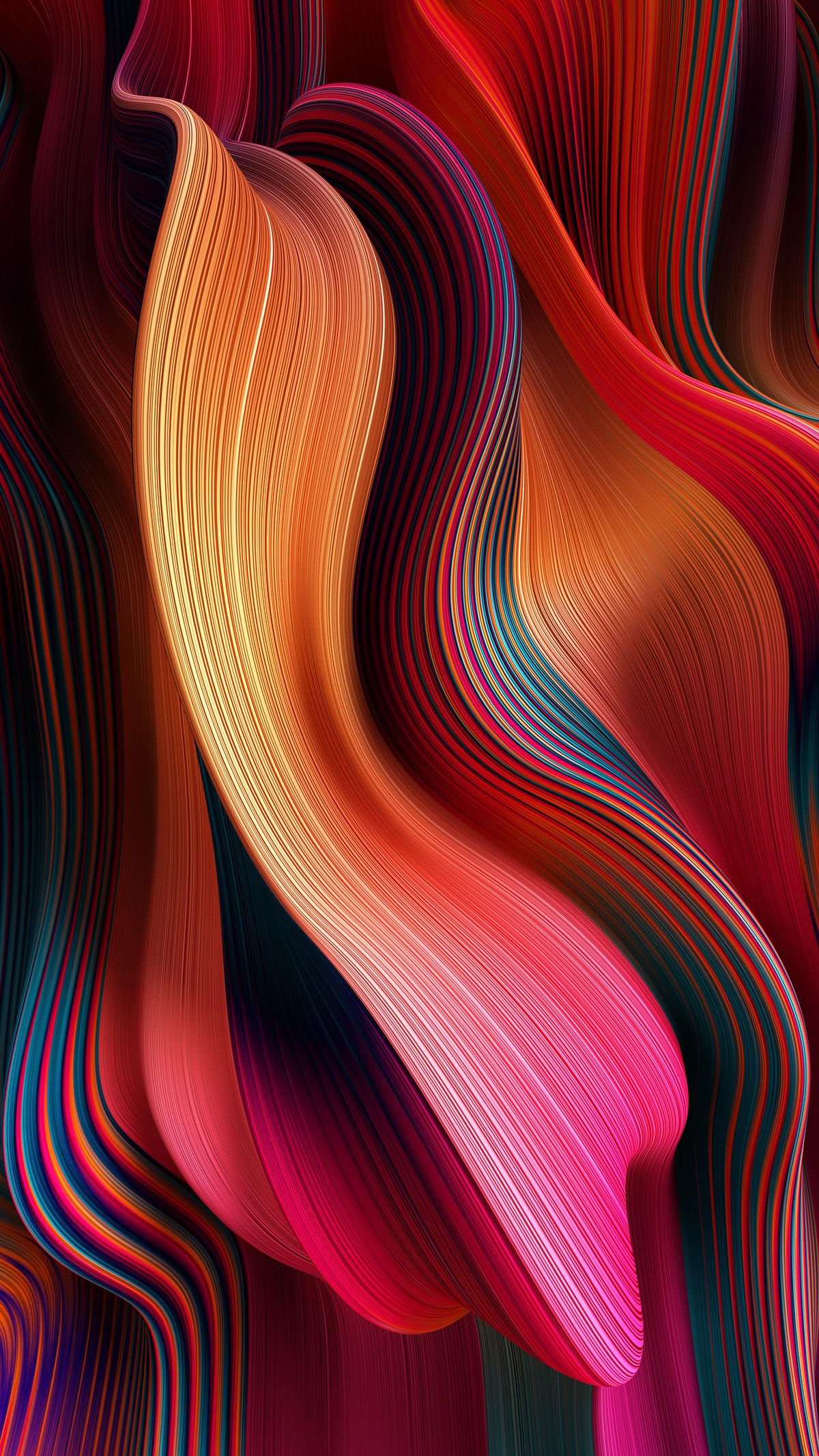 Gradient Flow Lines on Behance (With images) Abstract