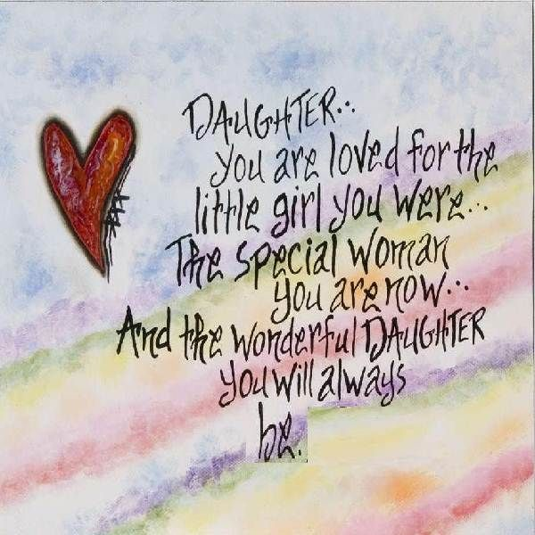Daughter Sayings Photos | Posts Related To I Love You Mom Quotes From  Daughter