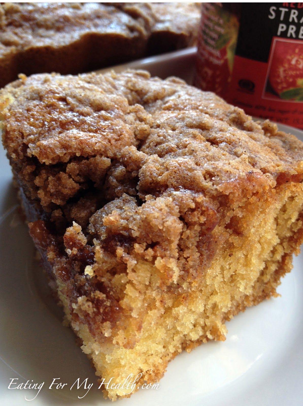 Gluten free strawberry crumb cake picnic cake allergy