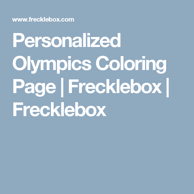 Personalized Olympics Coloring Page | Frecklebox | Frecklebox ...