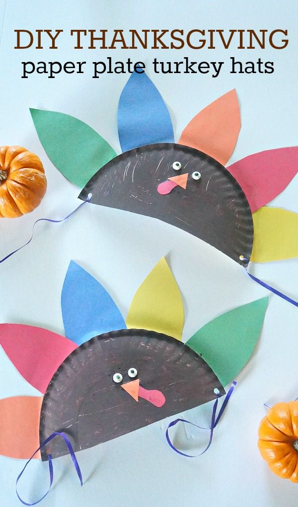 8 super fun and easy Thanksgiving crafts for kids  sc 1 st  Pinterest & 8 super fun and easy Thanksgiving crafts for kids | Paper plate hats ...