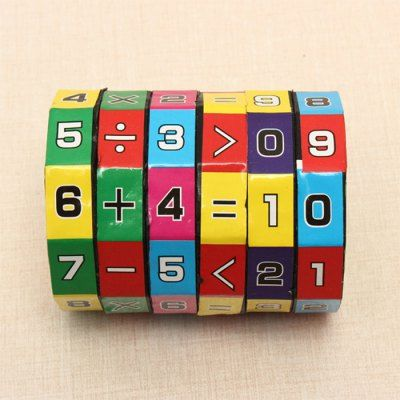 Colorful 6-Layer 7.2cm Height Puzzle Cube Child Education Learning Math Toy Kids