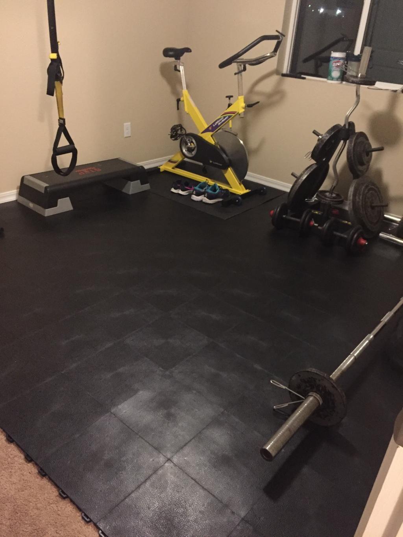 Staylock Tile Orange Peel Colors Home Gym Flooring Gym Flooring