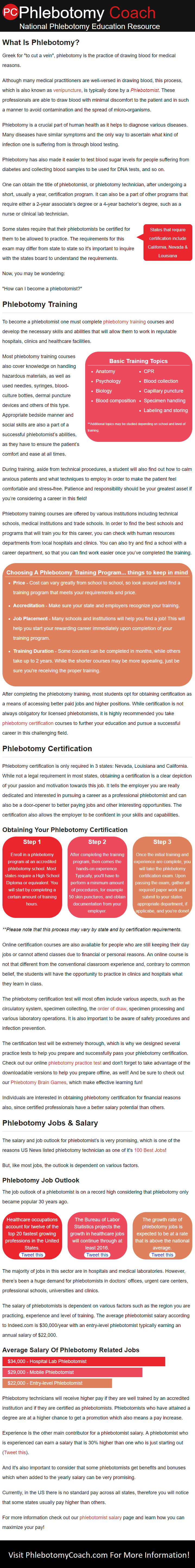 Updated The Webs Leading Resource For Phlebotomy Training