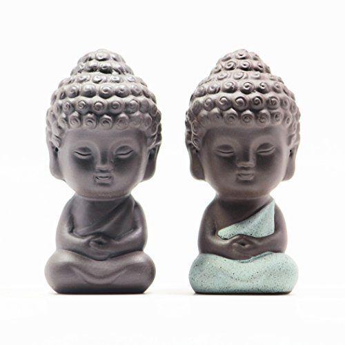 Uoon Cute Small Buddha Statue Figurine Home Sculptures Decoration