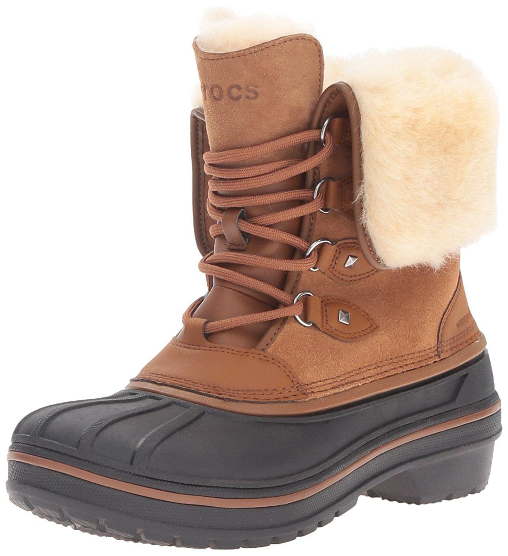 Amazon.com | Crocs Women's AllCast II Luxe Snow Boot | Snow Boots