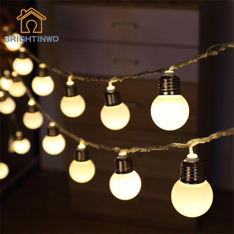 Novelty 5M 20 LED G45 Globe Festoon Party Ball String Lamps Led String Bulb  Lights Christmas