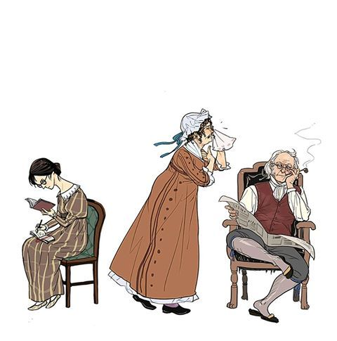 Pride and Prejudice : Mary,Mr.and Mrs.Bennet