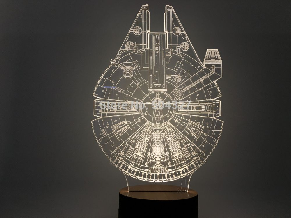 Millennium Falcon Star Wars 3d Light Lamp The Darth Mall Luces De La Noche Disenos De Unas Lamparas 3d