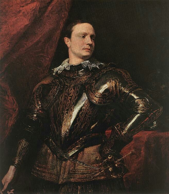 Sir Anthony van Dyck - Portrait of a Young General, 1622-27, Oil on canvas, 115,5 x 104 cm, Kunsthistorisches Museum, Vienna