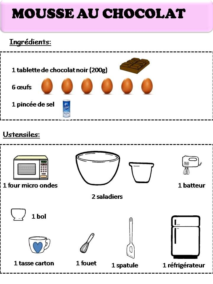 Souvent recette mousse au chocolat | How to make | Pinterest | Recette  DB65