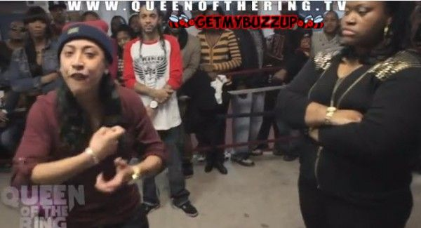 Queen of the Ring | Chayna Ashley vs Ms Fit Rap Battle | Video - http://getmybuzzup.com/wp-content/uploads/2012/12/0178-600x325.jpg- http://gd.is/sXTR8b