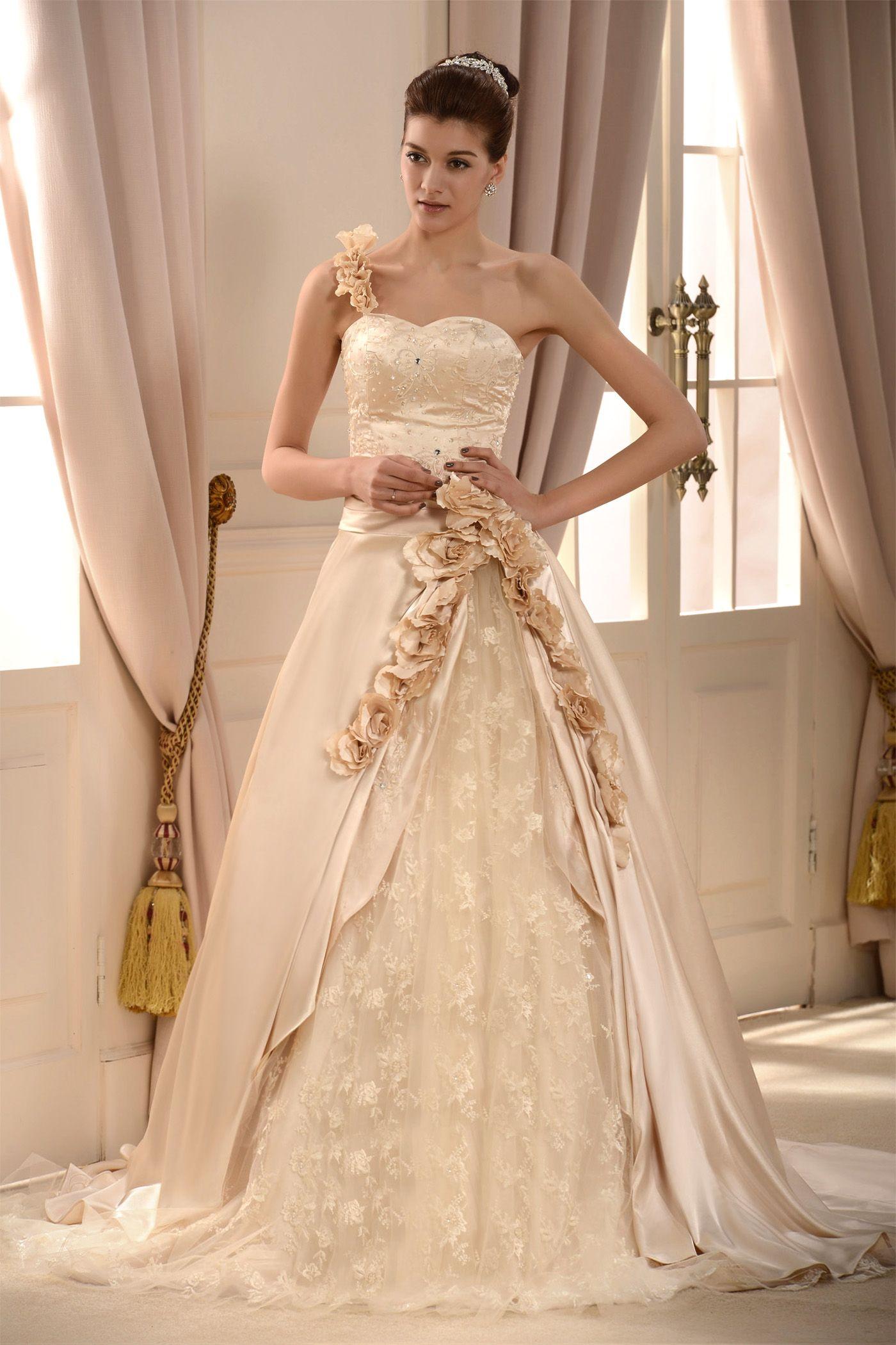Royal wedding dress   dressv SUPPLIES Elegant Oneshoulder Ball Gown Royal