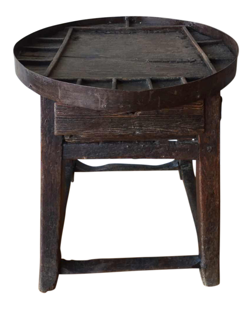 interesting side tables wall mounted this small round tuscan table once used by shoe cobbler makes an interesting side table today the compartments along the perimeter of top antique small round shoemakers side table shoe rounding