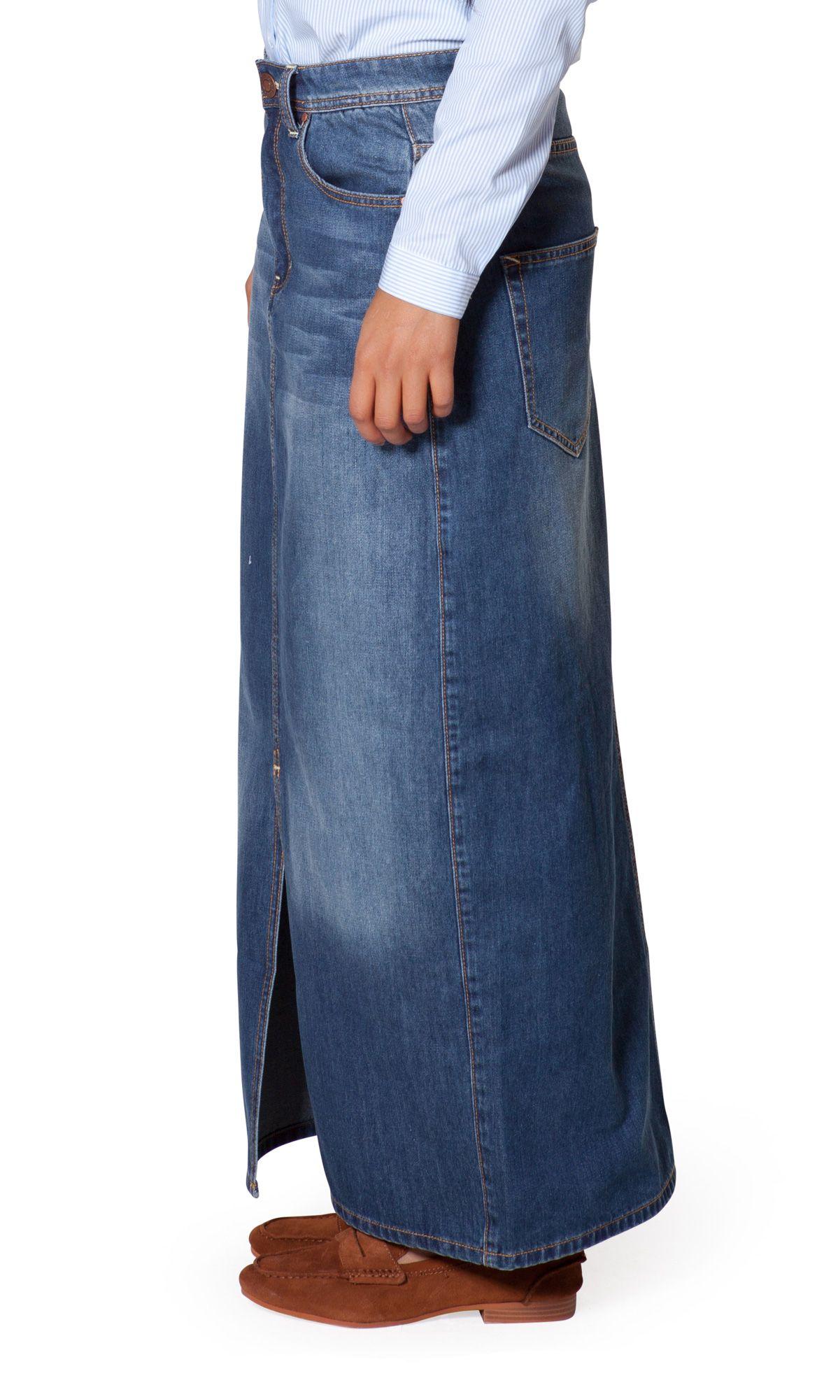 Fashionable USKEES Rachel Long Denim Skirt