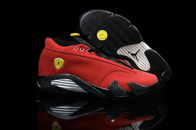 dfefd1e58ad ... czech air jordan 14 low ferrari chilling red black vibrant yellow size  7.5 53a33 9712e