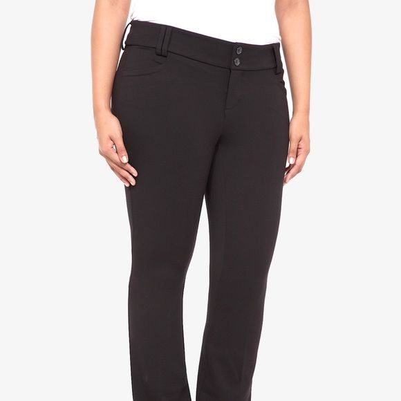 Torrid Noir Collection Pant Size 18S Torrid Noir Collection Pant Size 18S. Worn twice. Love them but realized I needed regular not short. Went back and bought the right size. torrid Pants Boot Cut & Flare