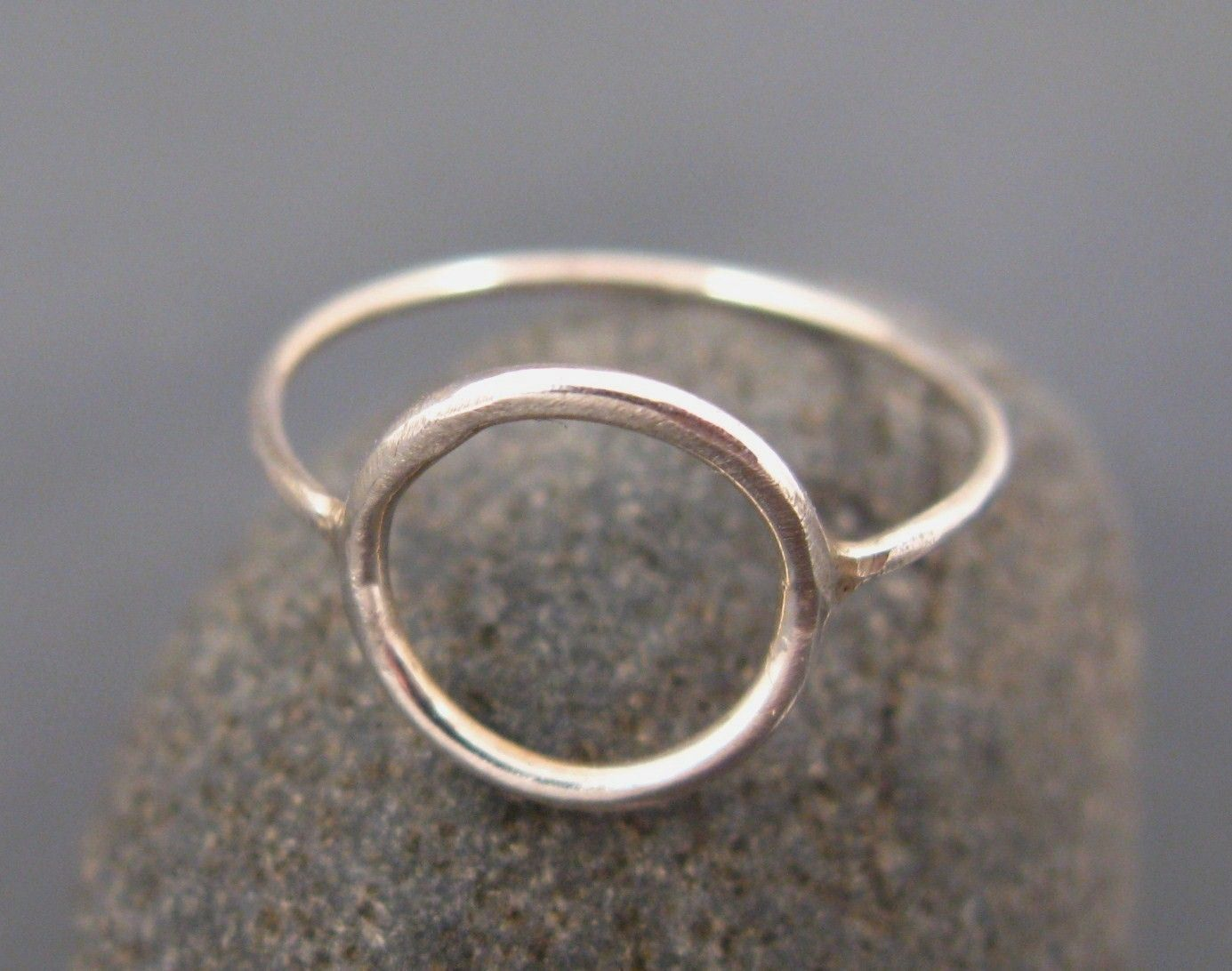 Silver Jewelry, Silver Circle Ring, Infinity Circle Ring, Engagement Ring  $2800,