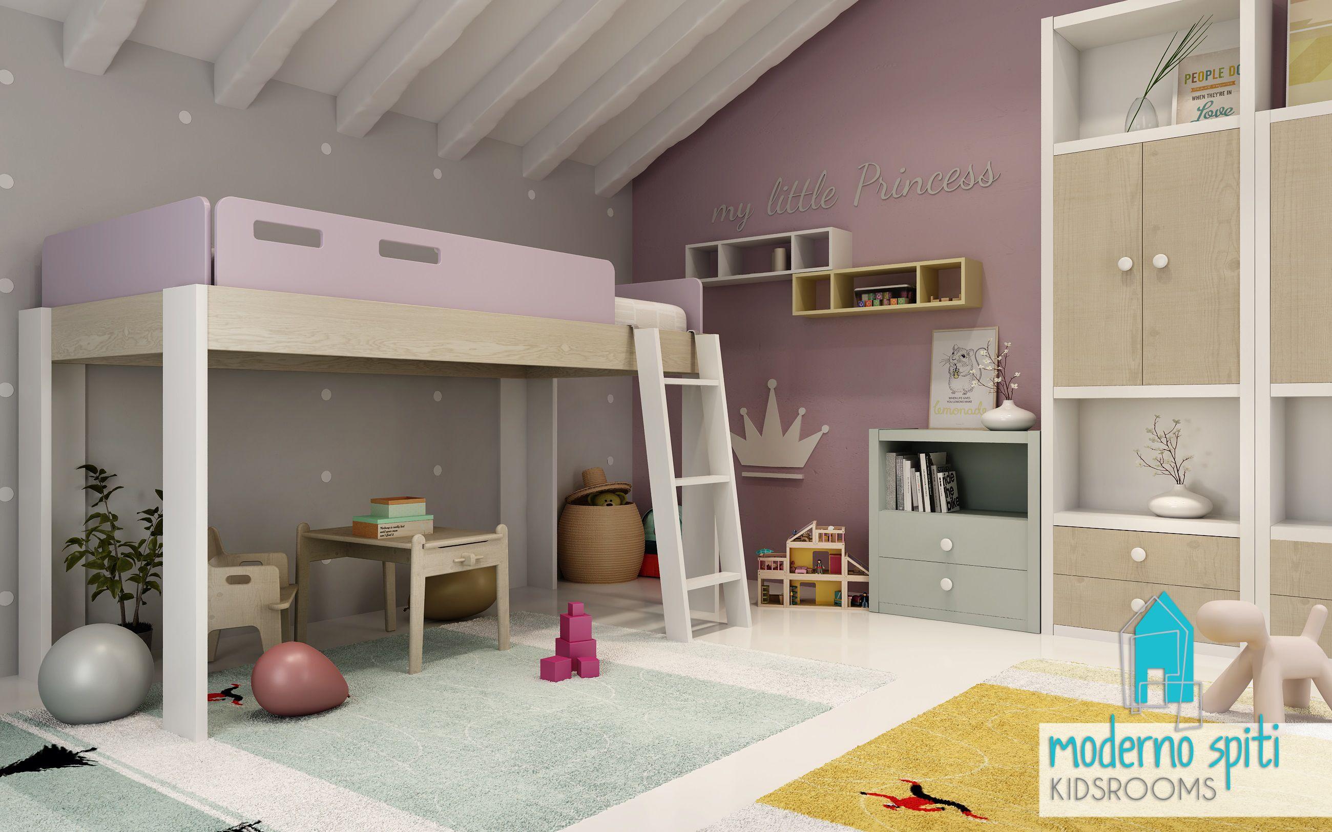 μια περιγραφη #girlbed #kidsroom#παιδικοδωματιο