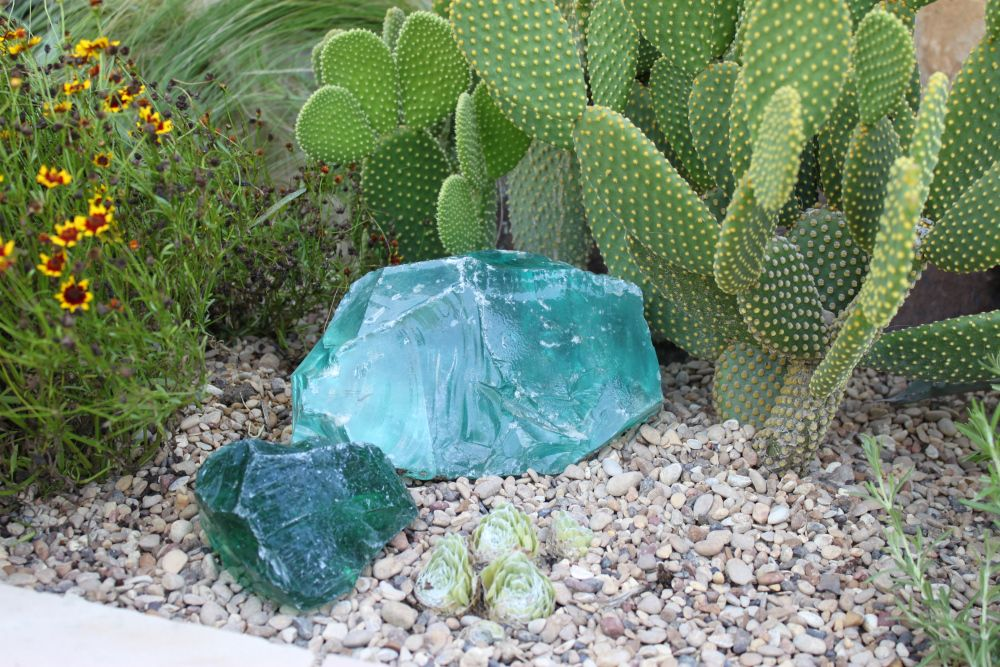 Hunk of Old Busted Glass Planting flowers, Plants, Aqua