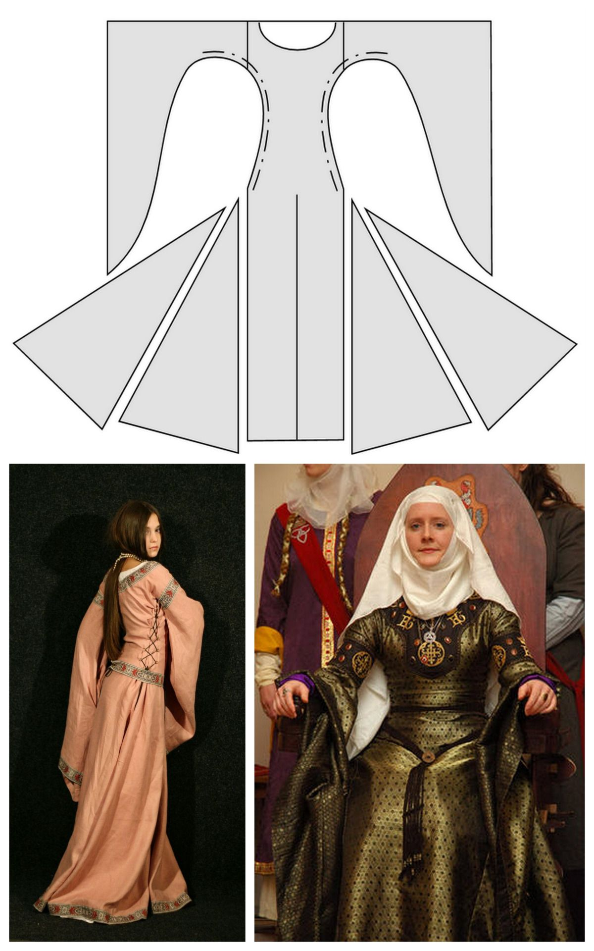 b78cec69376 truebluemeandyou  DIY Medieval Dresses from Medieval Wedding Dresses. The  above photos are of the