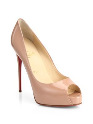 ef291e267d37 CHRISTIAN LOUBOUTIN New Very Prive Patent Leather Peep Toe Pumps.   christianlouboutin  shoes  pumps