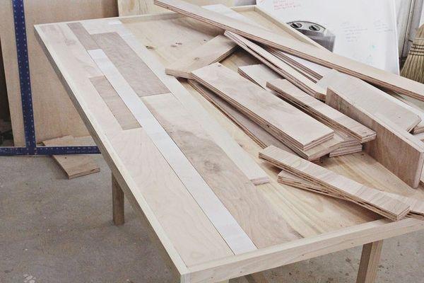 Make It Diy Scrap Wood Dining Table Woodworking Materials Wood