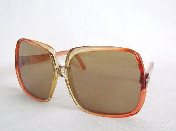 1960's Sunglasses MOD Era Oversize Frame Lenses Pink Rose Color