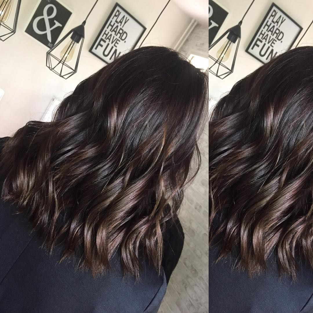 Jhair Coiffure Coloration Dark Brune Highlights Cheveuxmilong Chatain Glace Jhair Coiffure Coloration Dark Bru Long Hair Styles Hair Styles Hair