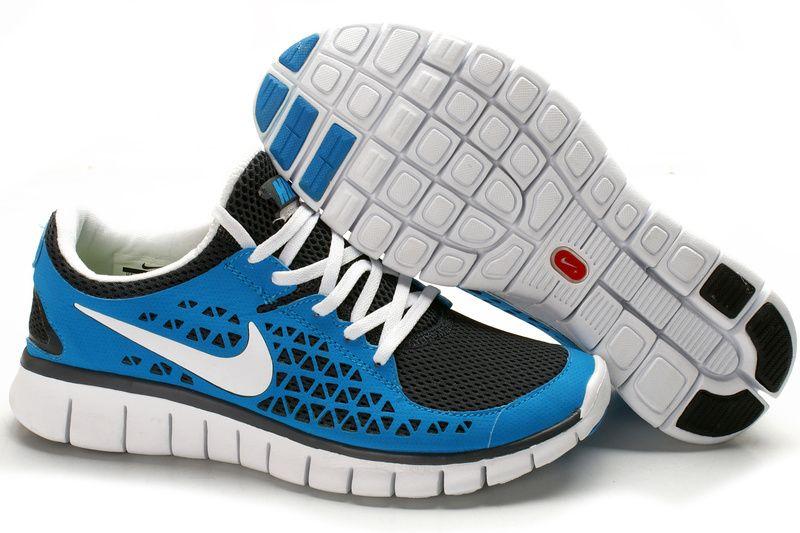 Nike Free Run Kvinder Blå Grå Hvid Sko