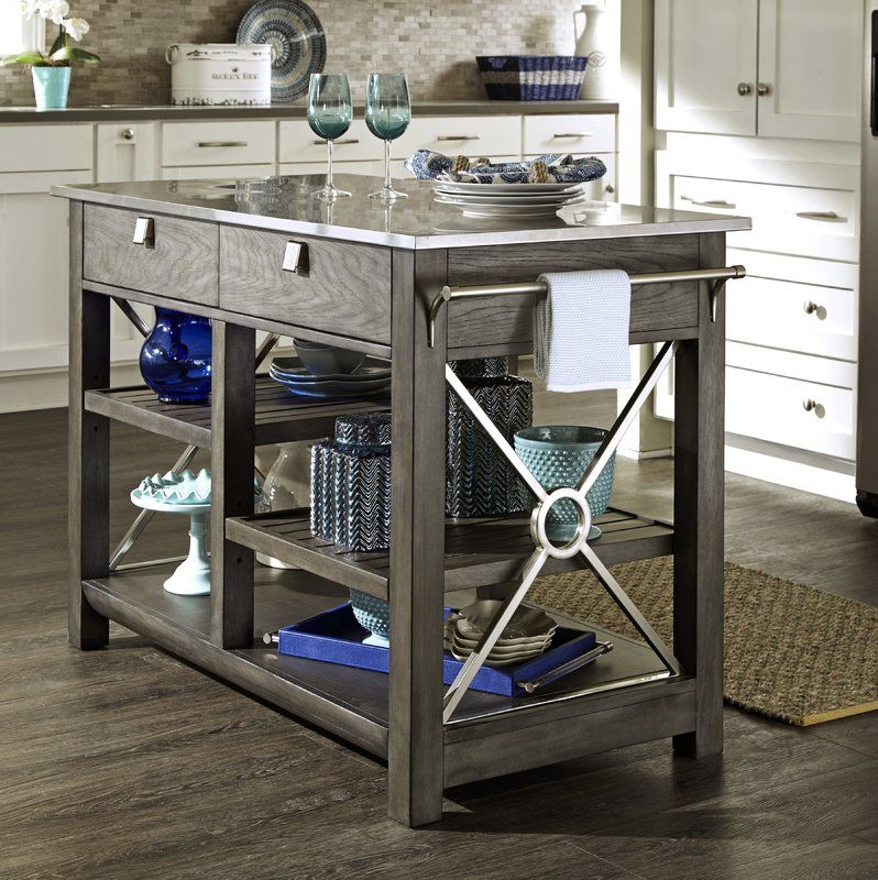 Kitchen Island With Stainless Steal Top Ad Kitchenisland Hudson Furniture Kitchen Island Home Collections