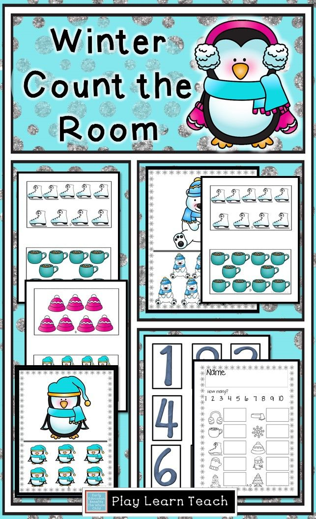 Winter Count the Room | Recording sheets, Pre-school and Count
