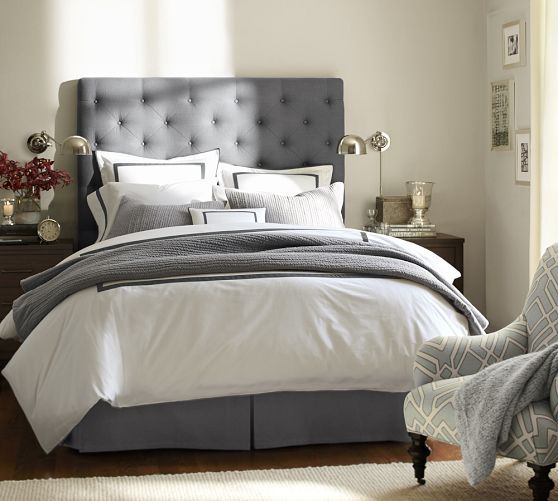 Lorraine Tufted Tall Bed Contemporary Bedroom Design