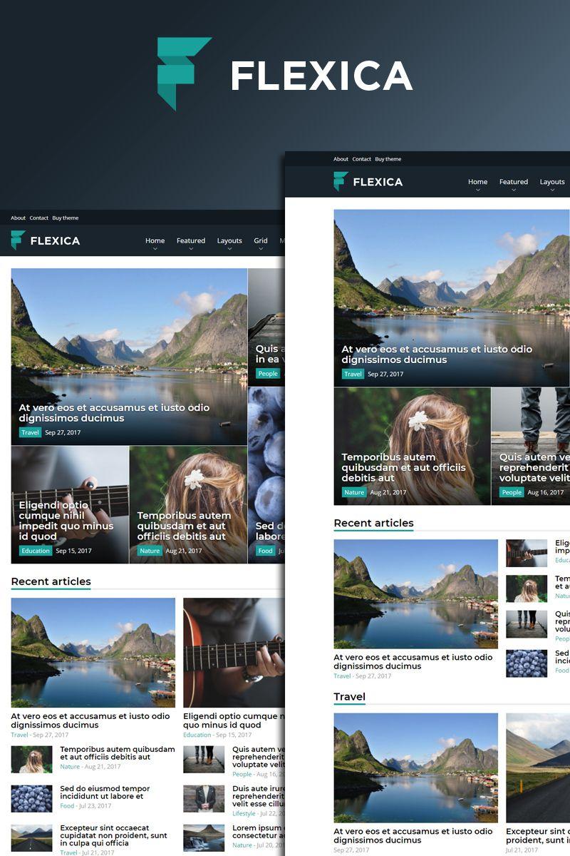 Flexica - Blog, News & Magazine Drupal Template Big Screenshot