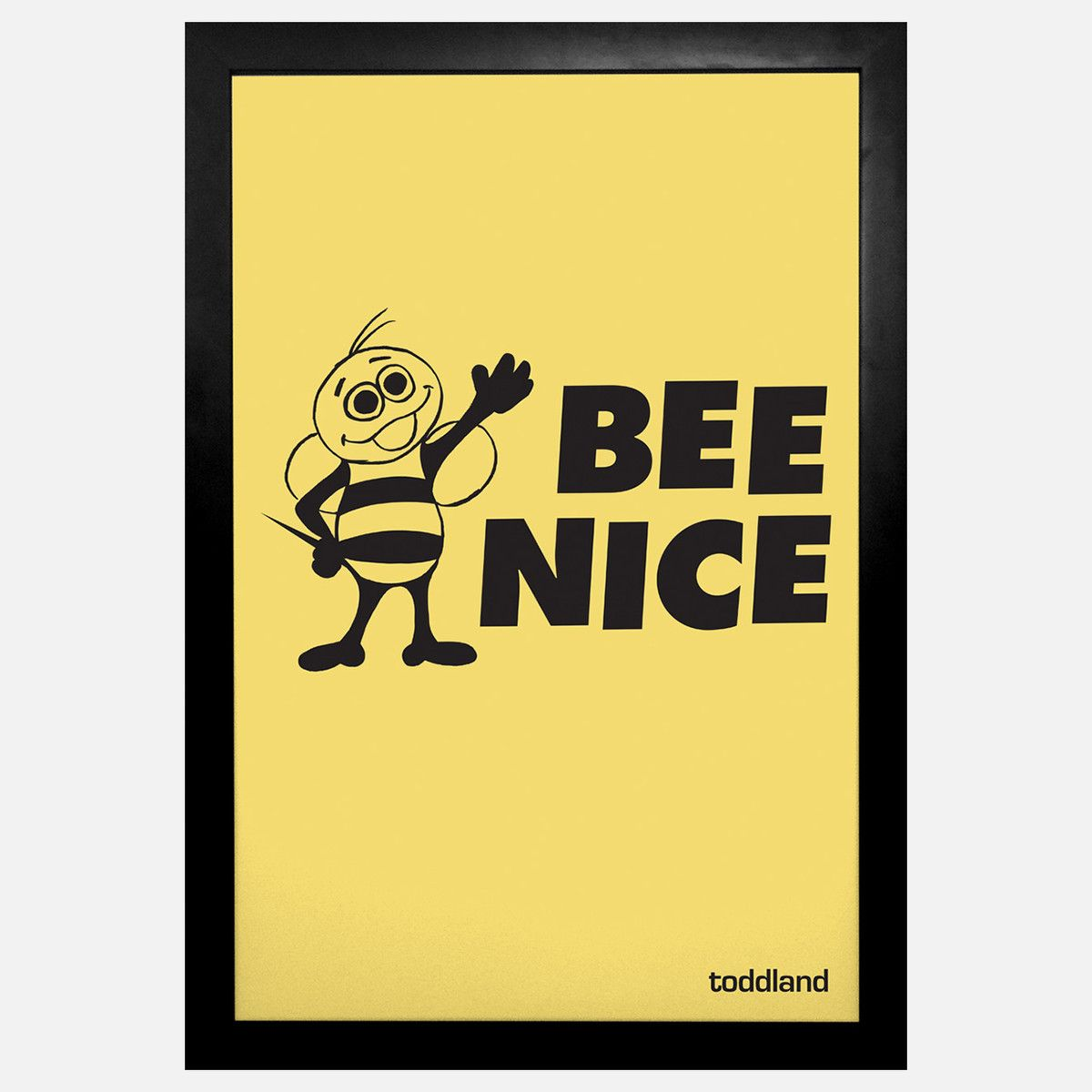 Bee Nice Framed