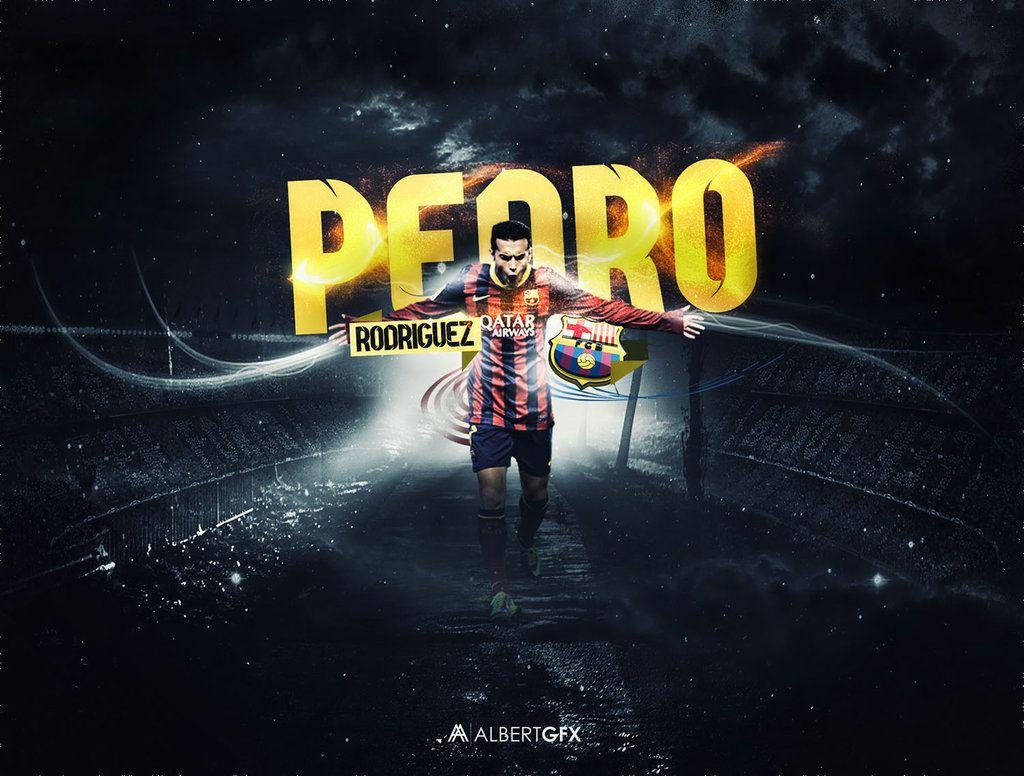 Pedro Rodriguez (Barcelona) By #AlbertGFX #football