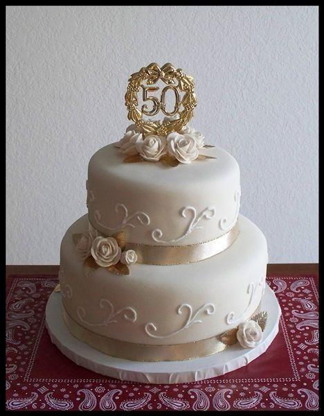 Pretty 50 Anos De Casamento Bolos De Aniversario De 50 Anos