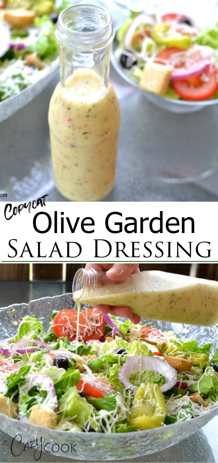 This Copycat Olive Garden Salad Dressing Recipe is easy to