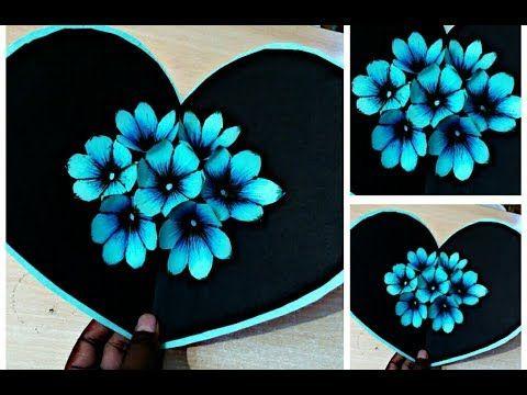 Diy 3d Flower Pop Up Card Crafts Handmade Craft Youtube Pop Up Flower Cards Pop Up Christmas Cards Card Craft