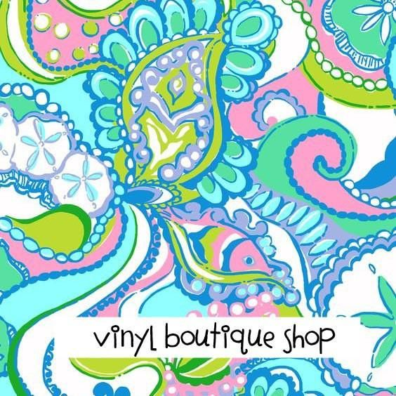 Conch Republic Lilly Inspired Printed Patterned Craft Vinyl