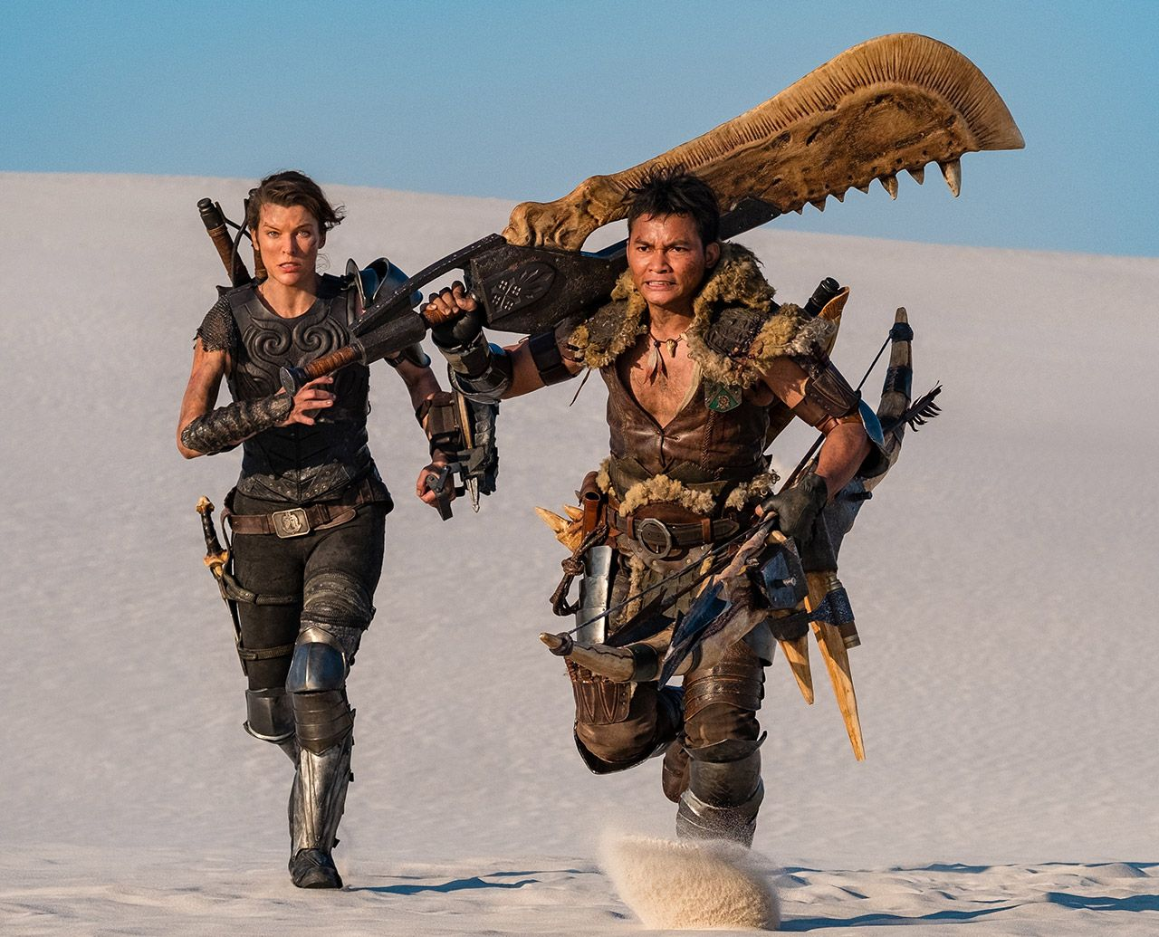 First Look At The Real Life Movie Based On Capcom S Best Selling Video Game Ever In 2020 Monster Hunter Movie Milla Jovovich Monster Hunter
