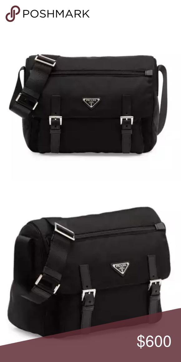 ab794a744f94 Prada Medium Double-Pocket Messenger Bag