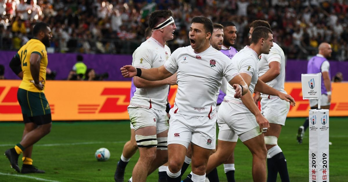 England 40 16 Australia Jonny May Scores Two Tries In Rugby World Cup 2019 Quarter Finals Ad 1 Ruthless England Pow Rugby World Cup World Cup England Fans