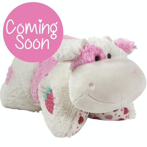 Sweet Scented Strawberry Milkshake Cow Pillow Pet In 2020 Animal Pillows Ladybug Pillow Pet Puppy Pillows